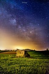 Voie Lactée - Milky Way (cleostan) Tags: voie lactée milky way france nikon la roche blanche puy de dome auvergne nuit night sky star etoiles vert