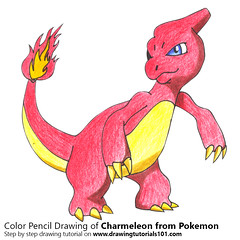 Charmeleon from Pokemon with Color Pencils [Time Lapse] (drawingtutorials101.com) Tags: charmeleon lizardo flame pokemon anime manga sketching pencil sketch sketches drawing draw speeddrawing timelapse timelapsevideo color coloring drawings how