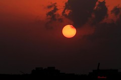 Red Sun !!! (Rambonp love's all t) Tags: trees roof sunset red wallpaper sky orange sun india mountains nature silhouette yellow clouds canon landscape evening twilight paradise raw sundown crop chandigarh dimness touristplace sector49chandigarh