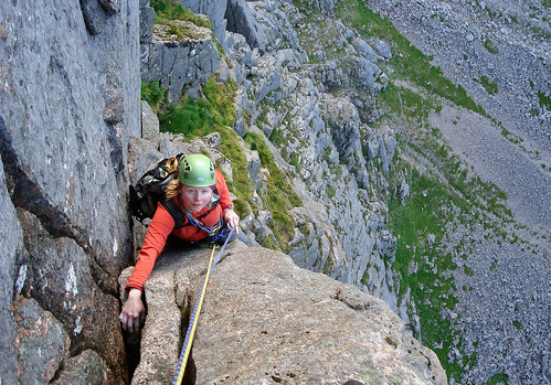 Gaining the upper reaches of the Needle
