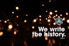 We write the history (indieferdie) Tags: history typography photography lights bokeh write phrase