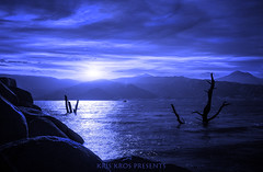 Blues after Hours (Kris Kros) Tags: blue sunset sun lake clouds photoshop happy memorial rocks day kris hdr kros kriskros 2013 kkgk