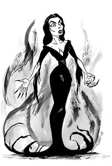 vampira (Denis St. John) Tags: illustration horror vampira horrorhost