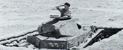 PzKpfw II emplazado en una posición defensiva. La ametralladora coaxial ha sido desistalada.