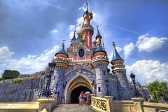 Sleeping Beauty Castle, Fantasyland, Disneyland Paris [FR] (ta92310) Tags: park travel sleeping summer paris france castle beauty europe disneyland disney mickey 77 parc hdr idf fantasyland topaz photomatix 2013 disneyland tamron1024