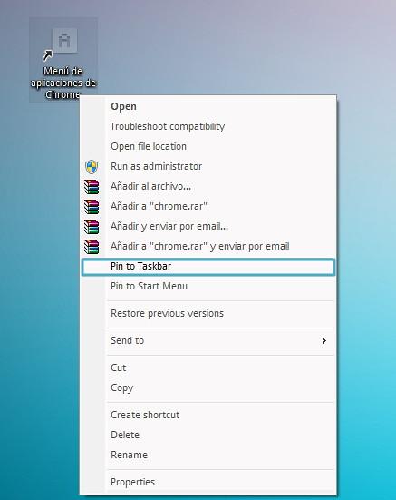 Pin a taskbar