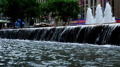 Radio City Splash (shardtor) Tags: newyorkcity water fountain reflections manhattan splash radiocitymusichall 6thavenue exxonbuilding