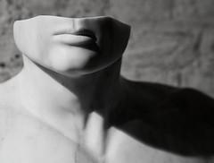 (donvucl) Tags: shadow bw sculpture london head form stpancraschurch cryptgallery lucyunwin donvucl olympusepl5 onformlondon