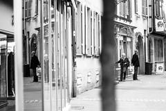 L'arrire du devant de dos (ben0son - www.ben0son.com -) Tags: street people urban blackandwhite bw france reflection monochrome noiretblanc colmar reflect alsace