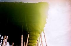 Thatched cottage (Pankha Nikon) Tags: light sunlight film analog landscape nikon kodak vietnam analogue filmcamera nhatrang nikonfm kodakcolorplus200