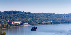 Ohio River (Todd Ryburn) Tags: ohio river kentucky ky edenpark oh overlook barge ohioriver