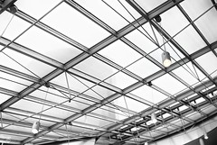 Glass Roof Construction (chmeermann | www.chm-photography.com) Tags: roof bw architecture blackwhite aperture nikon tag cologne sigma architektur sw highkey schwarzweiss dach chocolatefacto