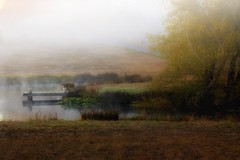 Pond on Woolsey Rd. (dred707..) Tags: fall fog sunrise pier pond oct shining ffp 2013 tisexcellence magicunicornmasterpiece daarklandsexcellence poeexcellence rockpaperexcellence kurtpeiserexcellence petitexcellence gdgexcellence magumastgallery