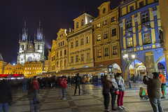 Staromstsk nmst (Old Town Square) - Prague (Smits Fotografie) Tags: old longexposure church night town prague praha citycenter tynchurch hdr praag nmst staromstsk smitsfotografie
