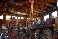 (ONE/MILLION) Tags: old travel vacation arizona yard landscape outdoors gold town photo junk rust colorful mine flickr king fb ghost rusty visit jerome antiques machines outhouse tours share facebook junks onemillion williestark carrolsedona