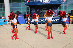 IMG_8841 (grooverman) Tags: plaza game sexy canon eos rebel football nice texas cheerleaders legs boots stadium nfl houston booty t3 dslr budweiser texans pregame reliant 2013