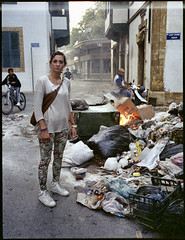 Everything You Can Think (Giorgio Verdiani) Tags: street man film boys bicycle trash mediumformat turkey fire 645 downtown strada fuji flames cyprus scooter center via uomo part area fujifilm northern expired 6x45 cipro fujinon zona turkish zone fuoco nord valentina 220 spazzatura bicicletta ragazzi centrostorico turchia fiamme rollfilm nicosia 800asa ga645 800iso pellicola rullo centrocitt medioformato scaduto scaduta