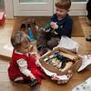 Jack & Megan open presents