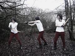 Adventurer (VampireBassist) Tags: red goggles sword sequence ilobsterit