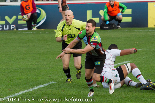 Karl Dickson - Quins 20 Leicester 6 LV Cup Pool 25th Jan 2014