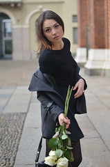 LOOK SEMPLICE 5 (Fashion and Lifestyle Blog) Tags: flowers milan fashion style glam littleblackdress whiteroses nikesneakers italianblogger sportylook simplelook alexanderwangbag topblogger roccobag