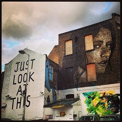 Just look at this #shoreditch #streetart