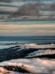 Mt. Tamalpais View (Beau Rogers) Tags: sanfrancisco california weather fog bay marin coastal bayarea mttam marincounty sanfranciscobay tamalpais mounttamalpais coastalfog vision:sunset=0816 vision:beach=0909 vision:outdoor=0887 vision: