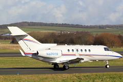 N374HM Bae125 (GSairpics) Tags: travel ex aircraft aviation transport aeroplane business biz executive prestwick pik bizjet bae125 egpk execjet gotaz n374hm