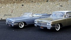 1960 Cadillac Eldorado Biarritz Convertible & Eldorado Seville Hardtop (JCarnutz) Tags: seville cadillac eldorado biarritz 1960 diecast 124scale danburymint