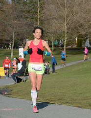 First Half Feb 16 2014 094604 (gherringer) Tags: canada vancouver race outdoors athletics downtown bc exercise britishcolumbia competition running seawall runners englishbay stanleypark colourful westend fit active bibs 211km 131mi vanfirsthalf