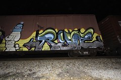 Ryoe (Revise_D) Tags: train graffiti trains revise graff tagging freight revised trainart fr8 bsgk benching ryoe fr8heaven fr8aholics revisedesigns revisedesign benchingsteelgiants