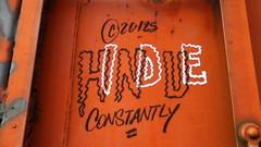 HINDUE (BLACK VOMIT) Tags: car train graffiti streak box oil boxcar hindu freight gbs moniker a2m hindue hindueoner hinduoner