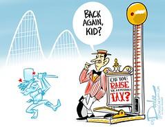 Admission tax cartoon (DSL art and photos) Tags: cedarpoint editorialcartoon donlee sanduskyregister admissionstax sanduskycitycommission