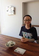 Mayako at Casa Sakanoue (Photo by Akemi Takeguchi) (mayakonakamura) Tags: painting tokyo dress oil kanagawa nakamura hiyoshi mayako rapucaluson casasakanoue takeguchiakemi aokikoji