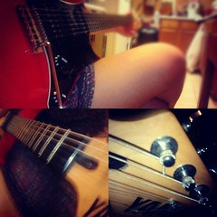 This guitar is beautiful and magnificent... (bridgetteannalyse) Tags: music guitar ah yamaha electricguitar cherryred steelstrings uploaded:by=flickstagram instagram:photo=360364996582213107207009384