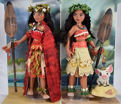 2017 vs 2016 Limited Edition Moana 16 inch doll - On Backing - Full Front View (drj1828) Tags: us disneystore moana limitededition doll 16inch second edition 2017 purchase deboxing 2016