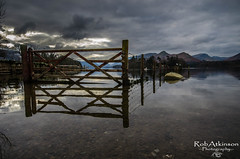 The gateway to the lakes (R0BERT ATKINSON) Tags: lakedistrict keswick derwent robatkinsonphotography cumbria water lakes gate clouds mountains sky nikond5100 derwentwater crowpark
