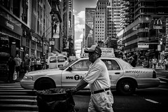 New York life (Daniel C Stocker) Tags: fuji raf newyork usa xpro1 street photography blackandwhite black white taxi cab life living streetstyle