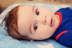 Superman.. when he was 5 months old ;) (renkata23) Tags: nikon boy sweet look browneyes cute portrait person people babyboy baby superman