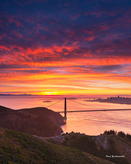 Burning Sky (davidyuweb) Tags: burning sky burningsky sunrise colors sunrisecolors san francisco sanfrancisco luckysnapshot hawk hill hawkhill golden gate bridge goldengatebridge sfist