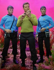 """Kirk to Enterprise, three to beam up"" (MiskatonicNick) Tags: qmx startrek kirk spock mccoy bones diorama sixthscale 16 actionfigures"