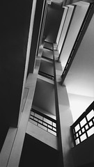 Rise and you won't fall (barborasuomi) Tags: slovakia university stairs student architecture blackwhite bw photography amateur vsco