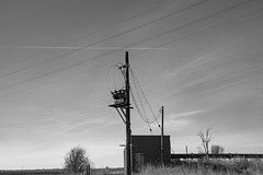 Pumping Station (Number Johnny 5) Tags: lines cables d750 2470mm east rural clouds countryside tamron imanoot monochrome wires sky anglia telegraph black nikon bw angles norfolk white