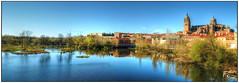 Salamanca (España) (Salva RC.) Tags: salamanca tormes río agua reflejos luz catedral