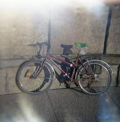 bicycle (rotabaga) Tags: göteborg gothenburg sverige sweden diana lomo lomography lomography400 ljusläckage lightleaks expiredfilm expired mediumformat mellanformat 120 6x6 götaplatsen
