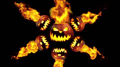 Fire Pumpkins 3 Looping Animation (globalarchive) Tags: seamless electric pattern generated art dj experiment party zombie jackolantern fractal power spiders futuristic element spooky scary fire jack render computer awesome fantasy beautiful amazing dream concept halloween holidays cool looping virtual best effects modern forests bats animation imagination digital geometric lanterns abstract loop design animated creative 3d energy pumpkins