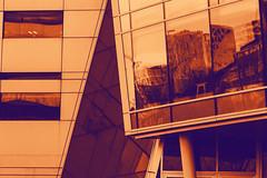Architecture and Ps (Mona_Oslo) Tags: architecture photoshop adobe orange purple form triangle square oslo akerselva modernarchitecture monajohansson color colorful