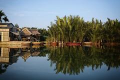 Mekong Reflection (polybazze) Tags: fuji fujifilm x100t saigon hcmc hochiminhcity vietnam summer vacation urban asia travel unseco heritage mekong river reflection