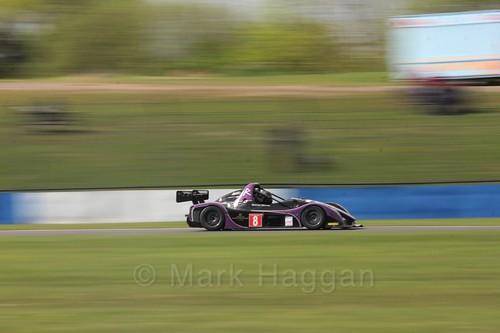 Radical Racing during the MSVR Weekend at Donington Park, April 2017