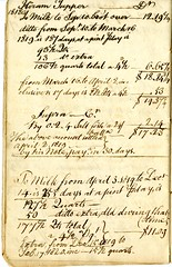 Fifteenth page of the Cambridge Milk Dealer Account Book (Cambridge Room at the Cambridge Public Library) Tags: cambridgemass commerce milk business accountbooks milkdelivery